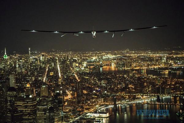 世界最大太阳能飞机抵达纽约 成功横跨美国