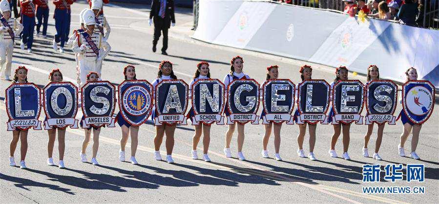 (国际)(3)洛杉矶举行2020新年玫瑰花车游行