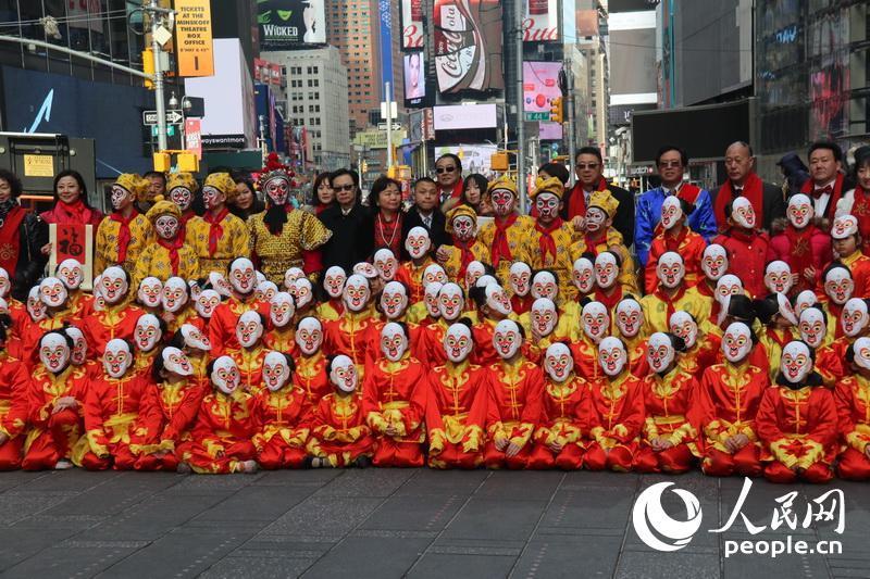 纽约时代广场百猴闹新春 大型焰火晚会贺猴年(组图) - 风帆页页 - 风帆页页博客
