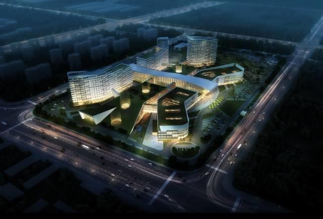 设计单位:北京五合国际工程设计顾问有限公司 设计特点:王字形经典布局,实现了纵横向交通流线的最优化,合理排布功能的同时缩短了医疗流线。 项目采用多中心模式,突破传统布局,解决了区域之间运转流线过长导致医疗效率下降的问题。 建筑内部在采用常规医疗主街的同时,增加次级连接环形连廊,实现了主干-枝干-分枝的联系模式,提高了整个院区的就医效率。 6 青岛市平度中心医院